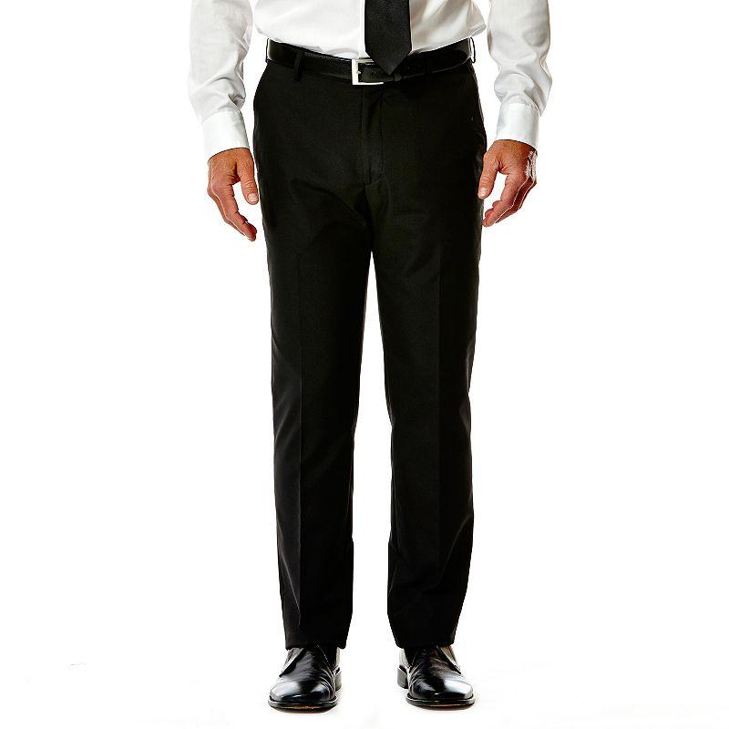 Men's Haggar® Slim-Fit Flat-Front Black Suit Pants