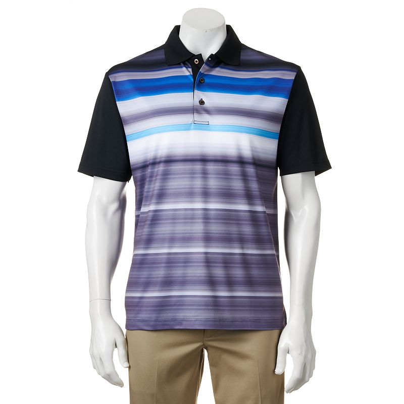Grand Slam Classic-Fit Striped Performance Golf Polo - Men