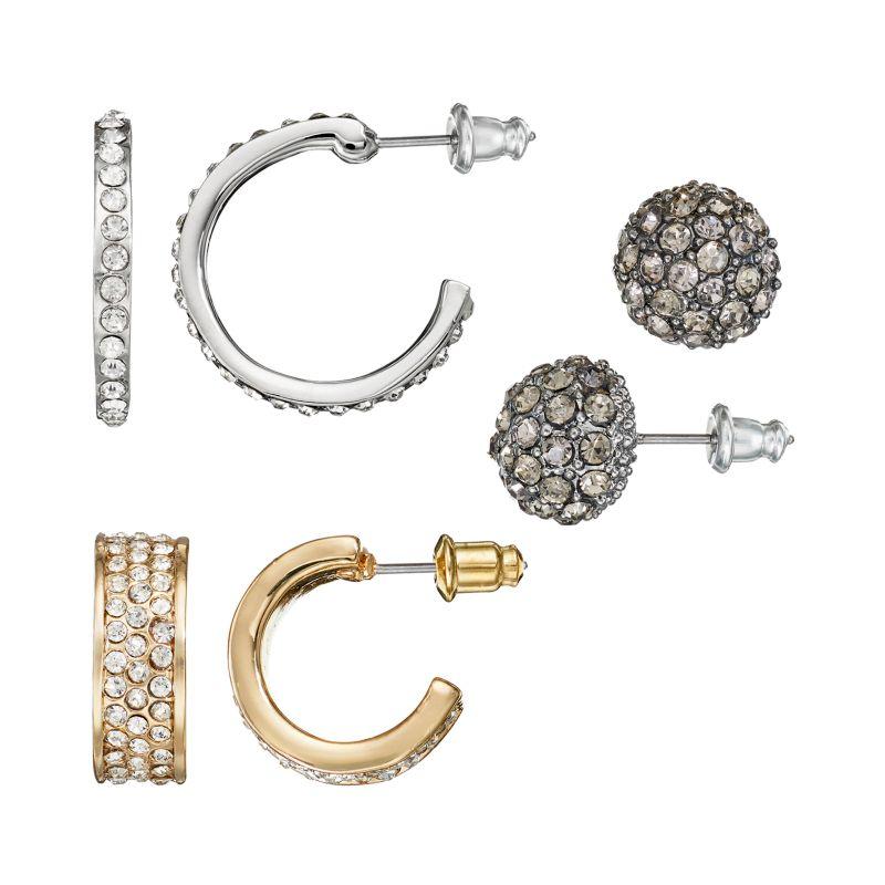 Hoop Earrings With Studs Stud And Hoop Earring Set