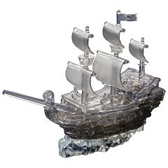 3D Crystal 101-pc. Pirate Ship Puzzle by BePuzzled by