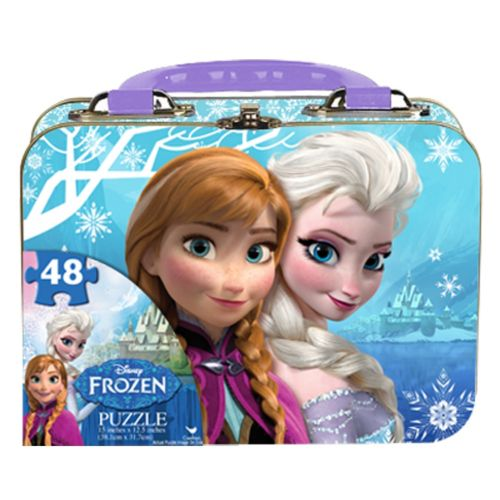 Disney Frozen Anna and Elsa 48-pc. Puzzle Lunch Box Tin