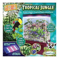Tropical Jungle LED Light Cube Terrarium