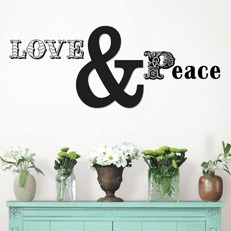 WallPops ''Love and Peace'' Wall Decals