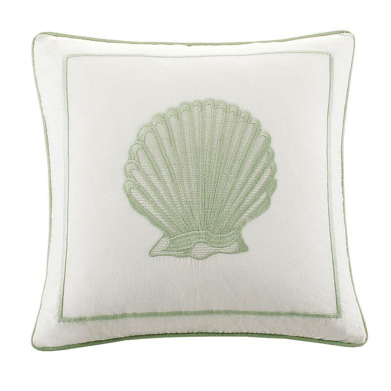 Kohls White Throw Pillows : HH Brisbane Shell Square Decorative Pillow