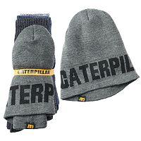 Men's Caterpillar 3-Pack Crew Socks & Hat Bundle