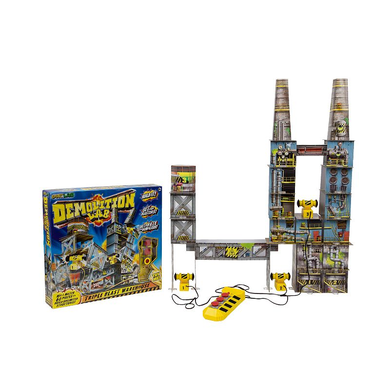 Demolition Lab Triple Blast Warehouse by SmartLab Toys, Multicolor