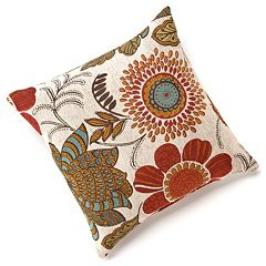 Gerbera Chenille Throw Pillow by