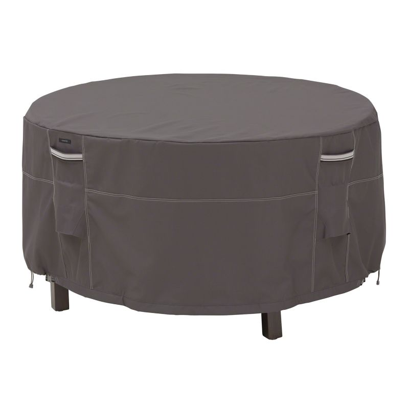Classic Accessories Ravenna Round Patio Table and Chair Set Cover - Outdoor, Grey