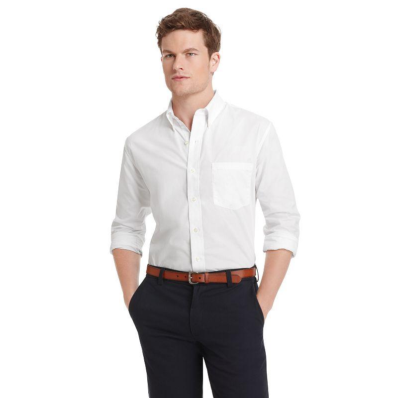 Big & Tall IZOD Seaside Twill Button-Down Shirt