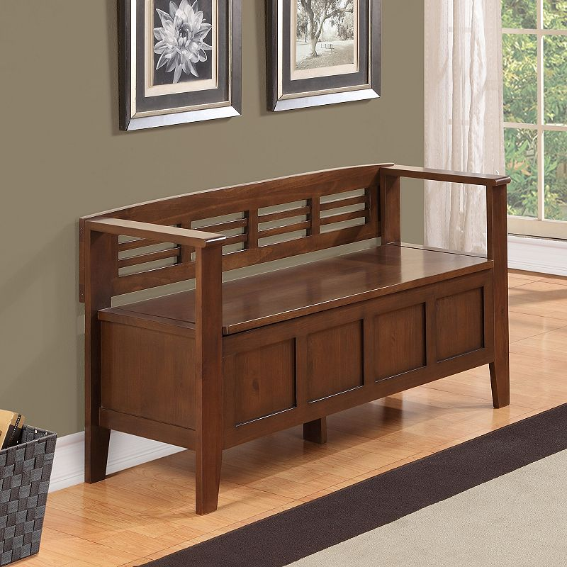 Simpli Home Adams Storage Bench