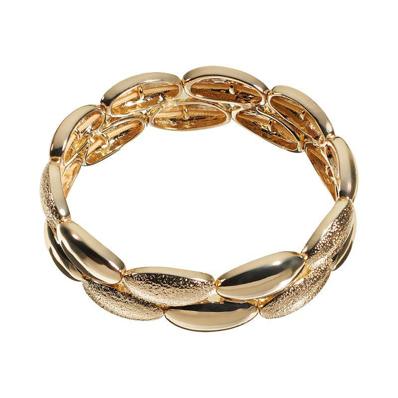 Dana Buchman Textured Oval Link Multirow Stretch Bracelet