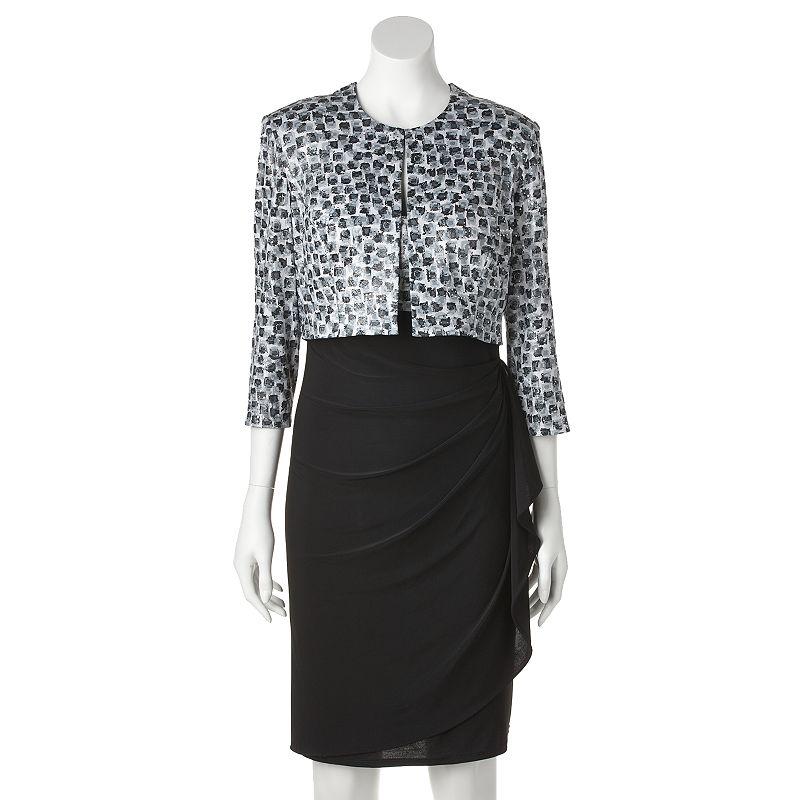 MSK Print Dress and Jacket Set - Women's