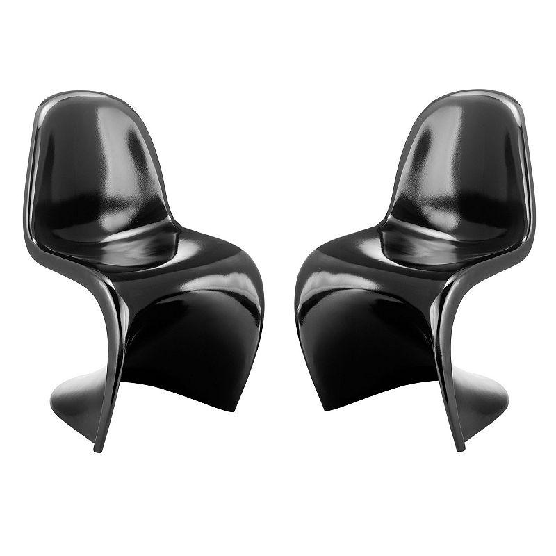 Zuo Modern 2-piece Contemporary Chair Set