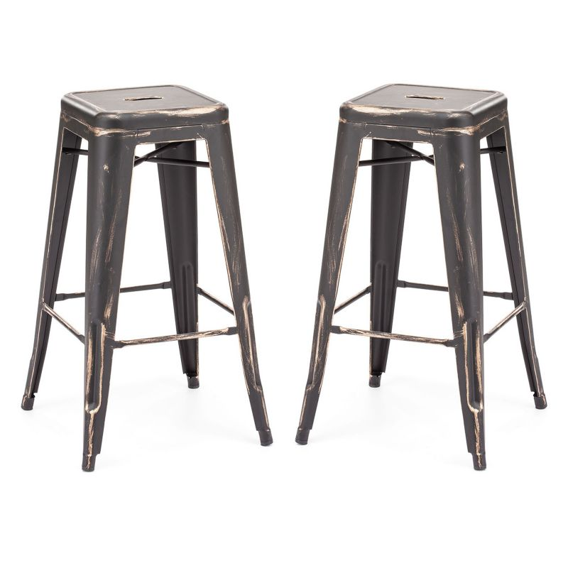 Zuo Modern 2 Piece Marius Bar Stool Set Dealtrend