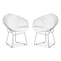 Zuo Modern 2-pc. Net Dining Chair Set
