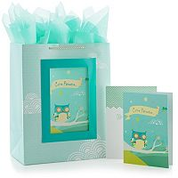 Hallmark Owl Gift Bag & Card Set
