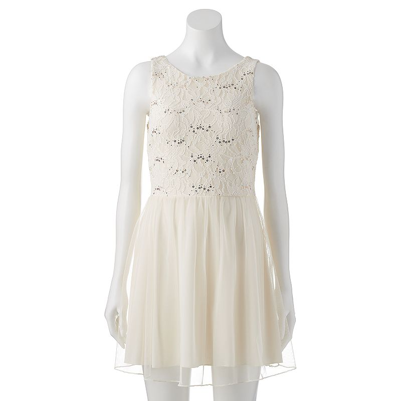 Juniors' Speechless Sleeveless Rosette Dress