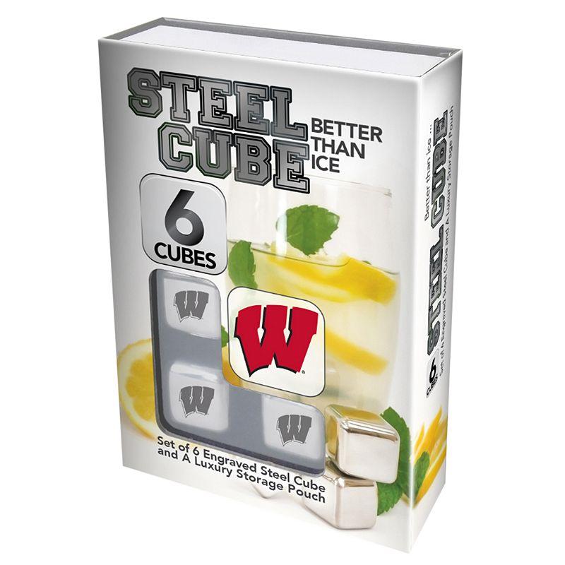 Wisconsin Badgers 6-Piece Steel Cubes