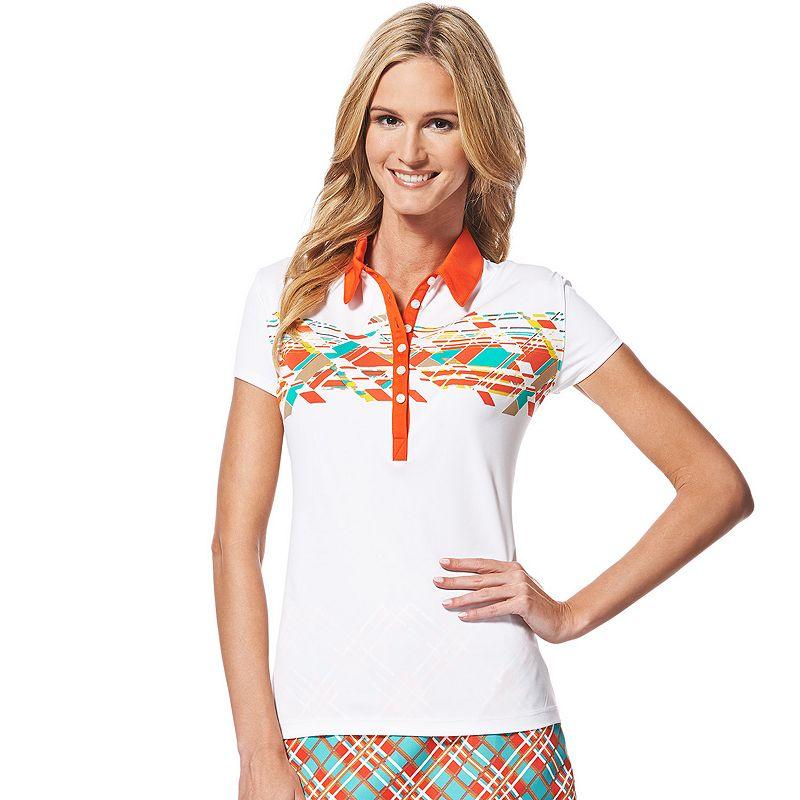 Women's Grand Slam Printed Golf Polo