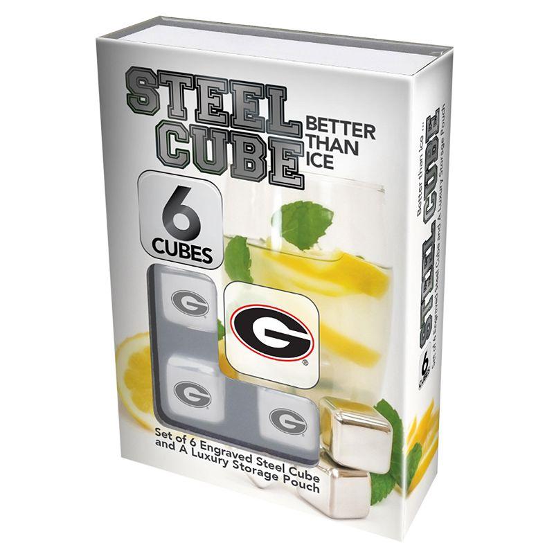 Georgia Bulldogs 6-Piece Steel Cubes