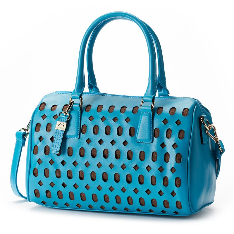 B-Collective by Buxton Leather Gabriella Perforated Convertible Satchel