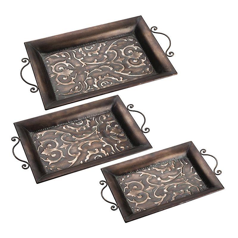 Bombay™ 3-piece Tapestry Scroll Tray Set