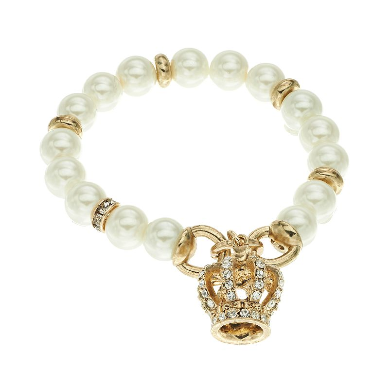 Juicy Couture Crown Charm Stretch Bracelet