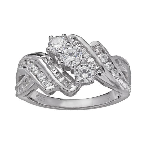 1 Carat T.W. Diamond 10k White Gold Twist Ring