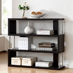 Baxton Studio Barnes 3-Shelf Bookcase by