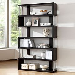 Baxton Studio Barnes 6-Shelf Bookcase by