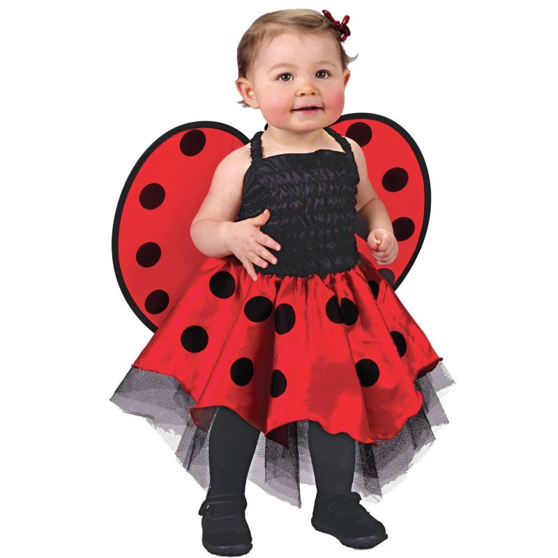 Lady Bug Costume - Baby (Black/Red)