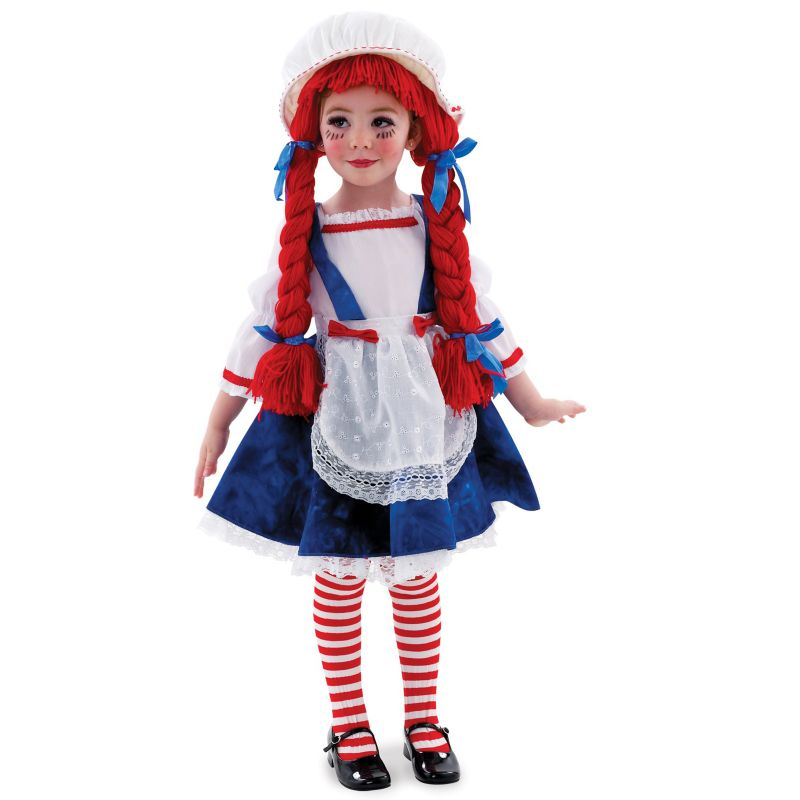 Yarn Babies Rag Doll Costume - Kids (Blue/White/Red)