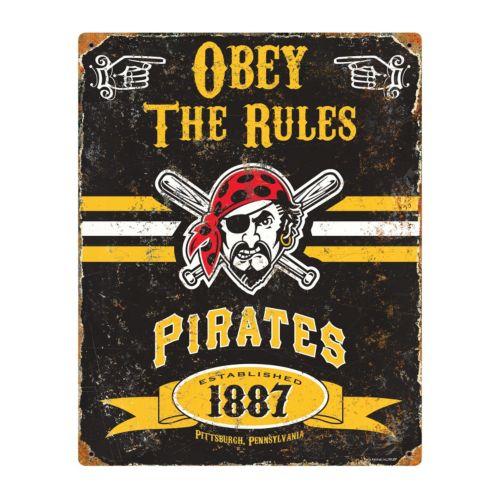 Pittsburgh Pirates Embossed Metal Sign