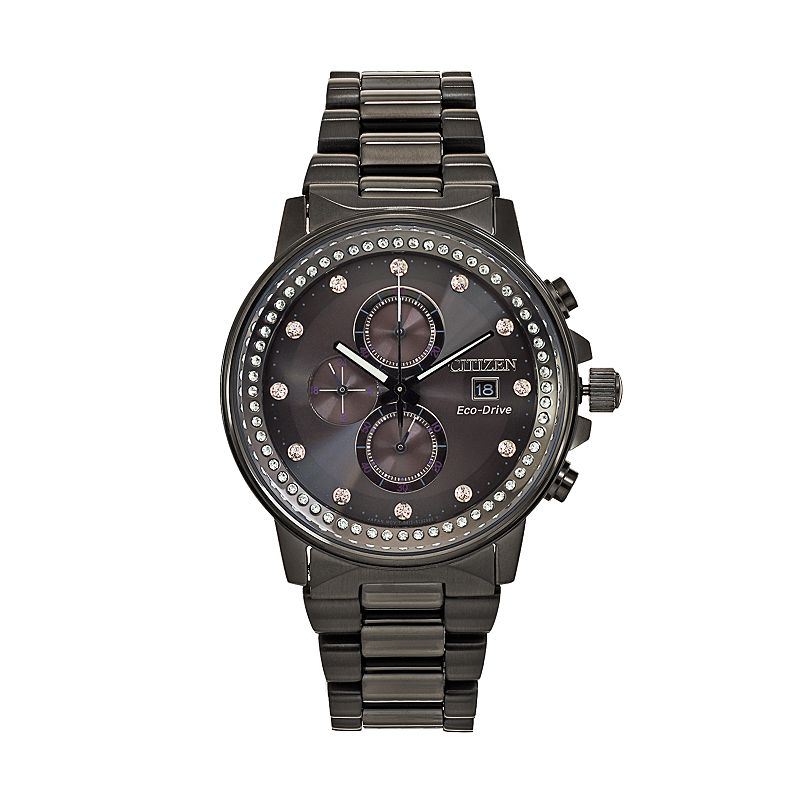 Citizen Eco-Drive Men's Nighthawk Crystal Stainless Steel Chronograph Watch - FB3005-55E