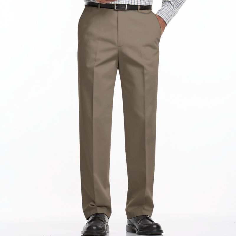 Men's Haggar Work to Weekend Classic-Fit Flat-Front No-Iron Expandable Waist Pants