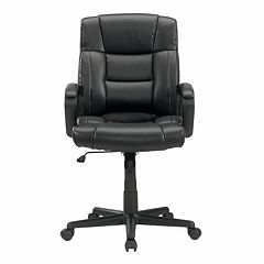 Sauder Gruga Leather Manager Desk Chair by