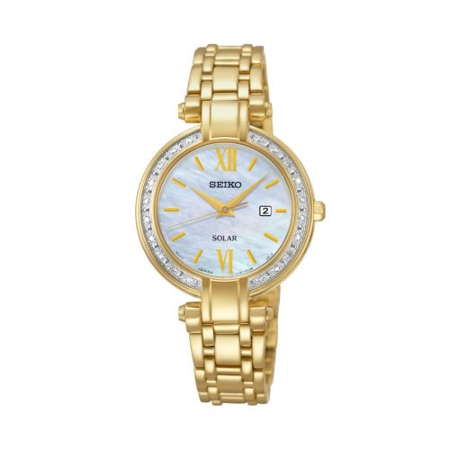 Seiko Women's Solar Tressia Stainless Steel Watch - SUT182