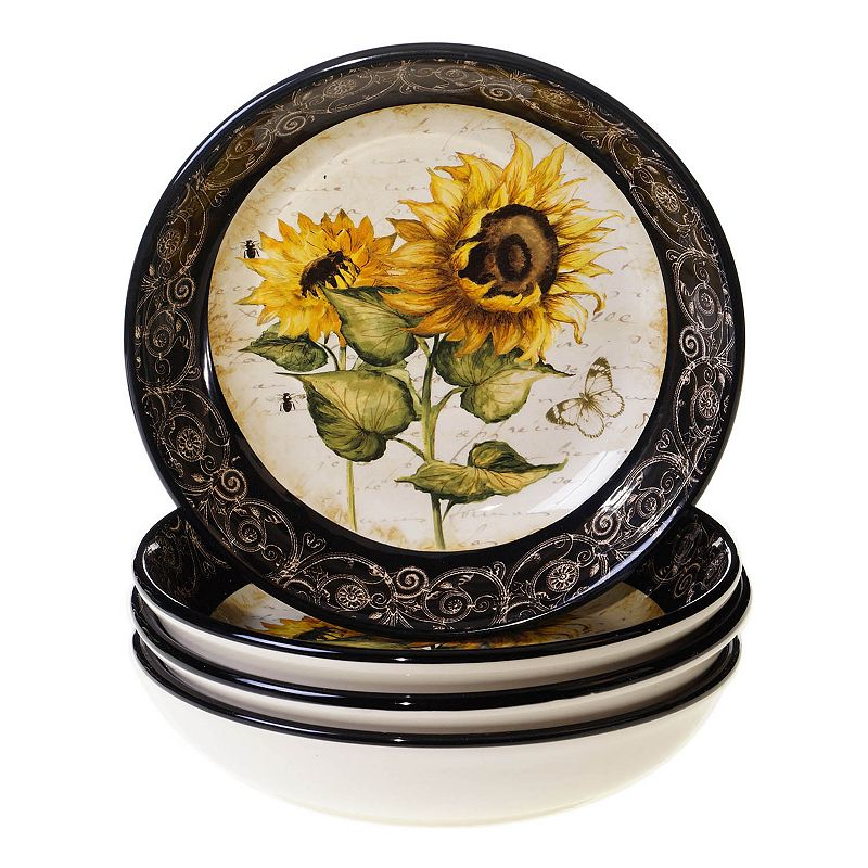 Certified International French Sunflowers 4-pc. Soup Bowl Set