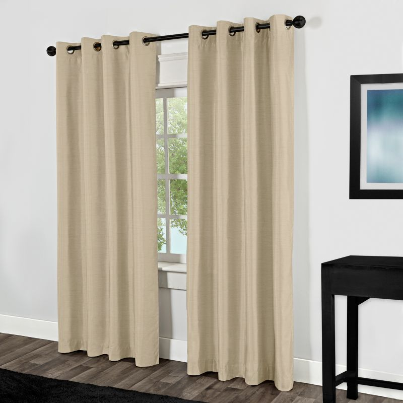 Exclusive Home Shantung Thermal Blackout Curtain Pair - 54'' x 84''