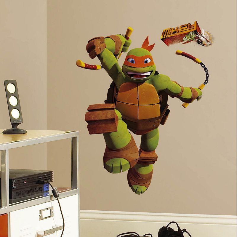 teenage mutant ninja turtles michelangelo peel stick wall decal. Black Bedroom Furniture Sets. Home Design Ideas