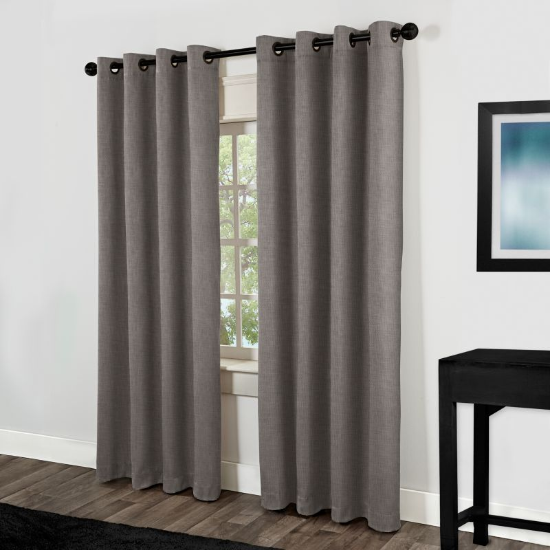 Gray And White Curtain Panels Fashion Window Curtains