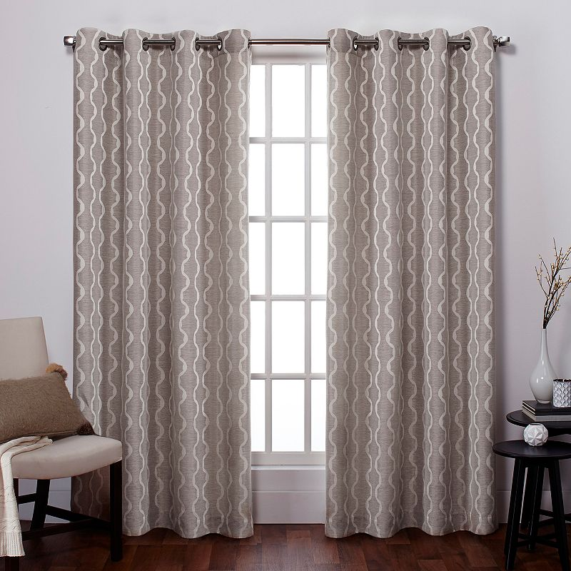 Exclusive Home Baroque Jacquard Curtains 54 X 84 - spencer home decor curtains