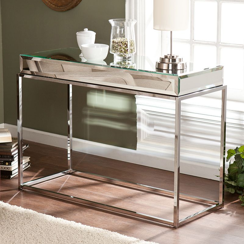 Southern Enterprises Lucinda Mirrored Console Table