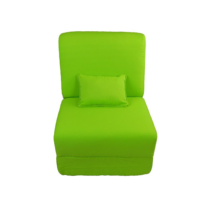 Fun Furnishings Canvas Sleeper Chair and Pillow - Teen