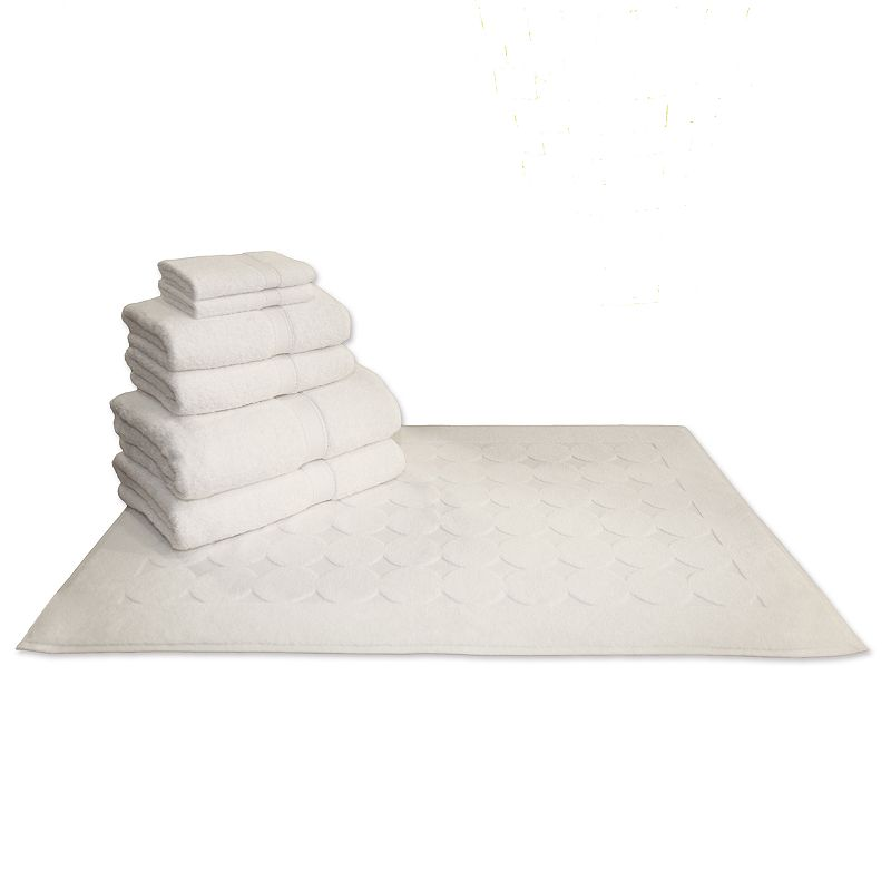 Linum Home Textiles Terry 7-pc. Bath Towel and Geometric Bath Mat Set