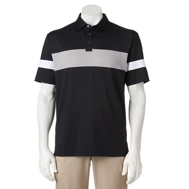 Men's Ben Hogan Chest-Striped Performance Golf Polo
