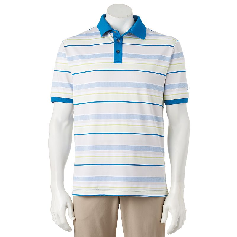 Men's Ben Hogan Striped Jacquard Performance Golf Polo