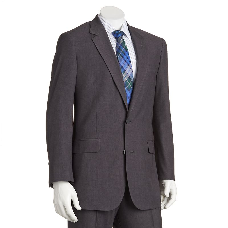 Big & Tall Croft & Barrow® Classic-Fit Gray Twill Suit Jacket