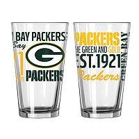 Green Bay Packers 2-piece Pint Glass Set