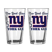 Boelter New York Giants Spirit Pint Glass Set